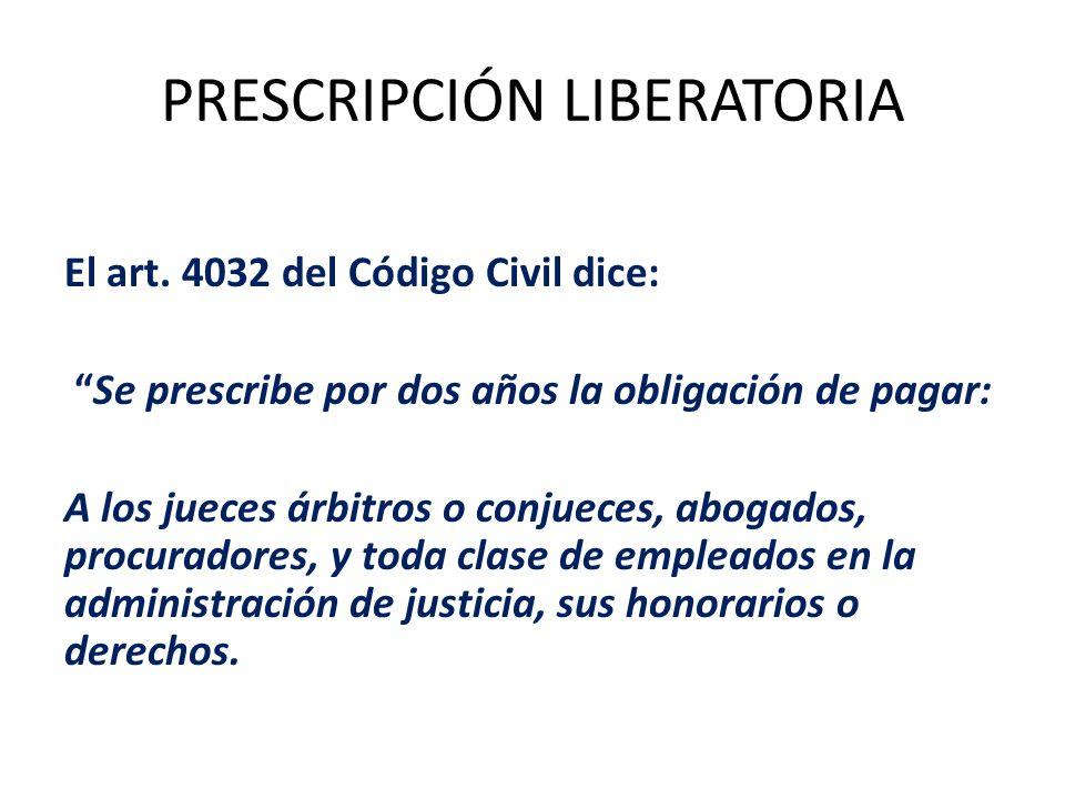 PRESCRIPCIÓN LIBERATORIA