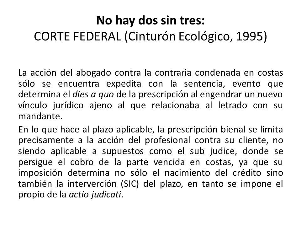 No hay dos sin tres: CORTE FEDERAL (Cinturón Ecológico, 1995)