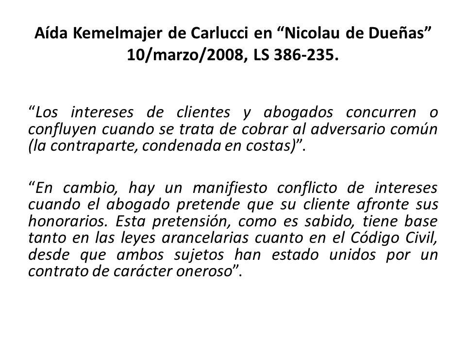 Aída Kemelmajer de Carlucci en Nicolau de Dueñas 10/marzo/2008, LS 386-235.