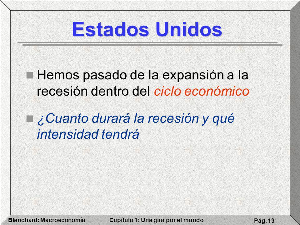 Estados Unidos Hemos pasado de la expansión a la recesión dentro del ciclo económico.