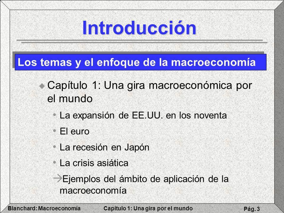 Introducción Los temas y el enfoque de la macroeconomía