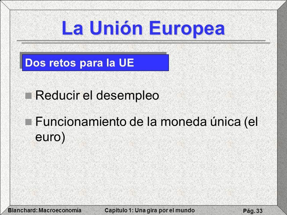 La Unión Europea Reducir el desempleo