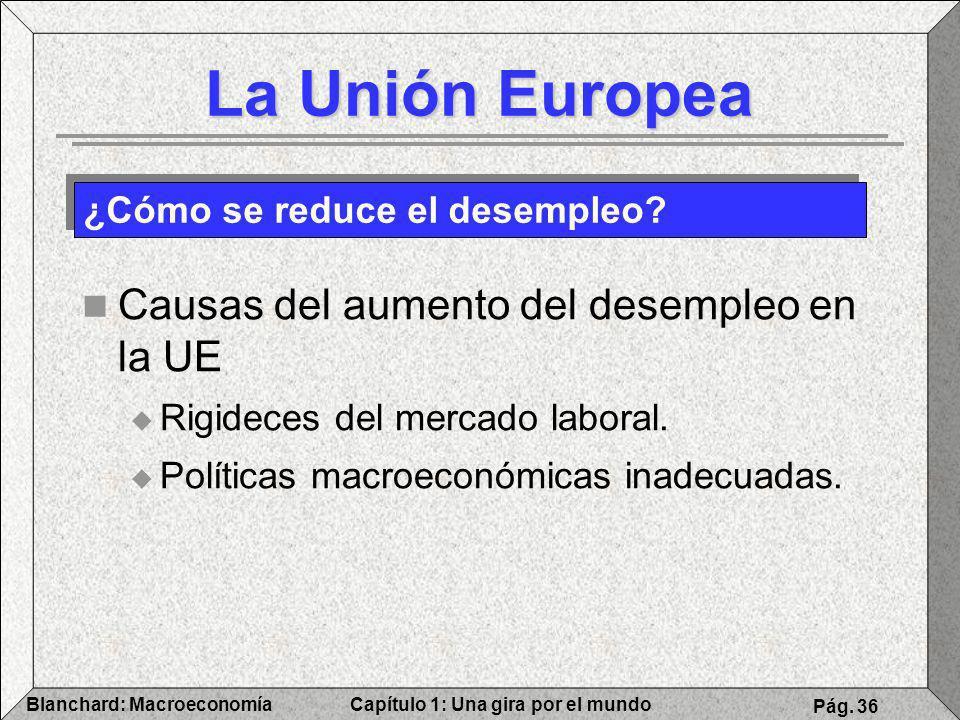 La Unión Europea Causas del aumento del desempleo en la UE