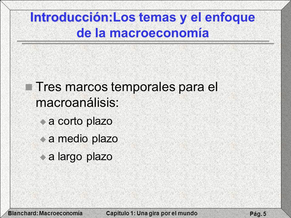 Introducción:Los temas y el enfoque de la macroeconomía