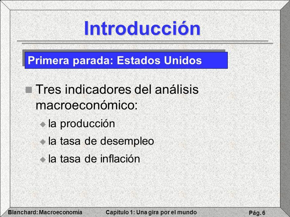 Introducción Tres indicadores del análisis macroeconómico: