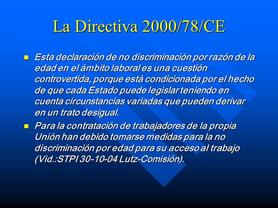 La Directiva 2000/78/CE