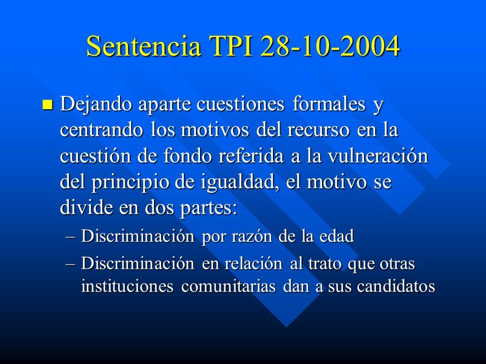 Sentencia TPI 28-10-2004