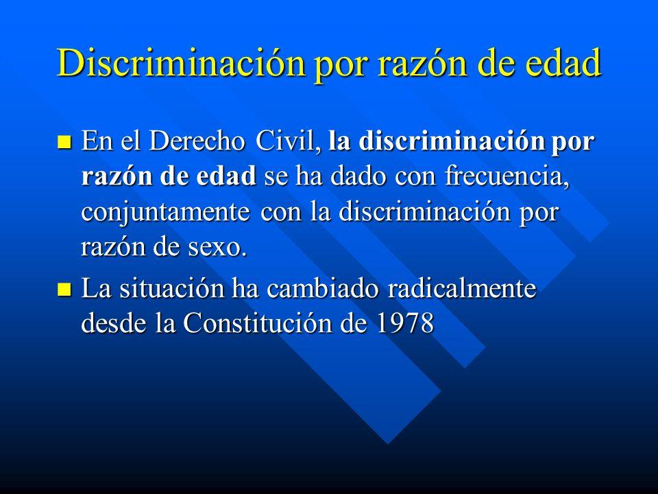 Discriminación por razón de edad