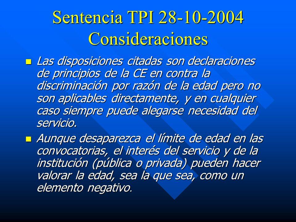 Sentencia TPI 28-10-2004 Consideraciones