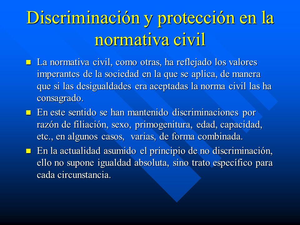 Discriminación y protección en la normativa civil