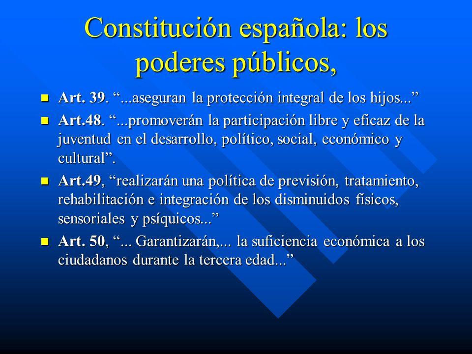 Constitución española: los poderes públicos,