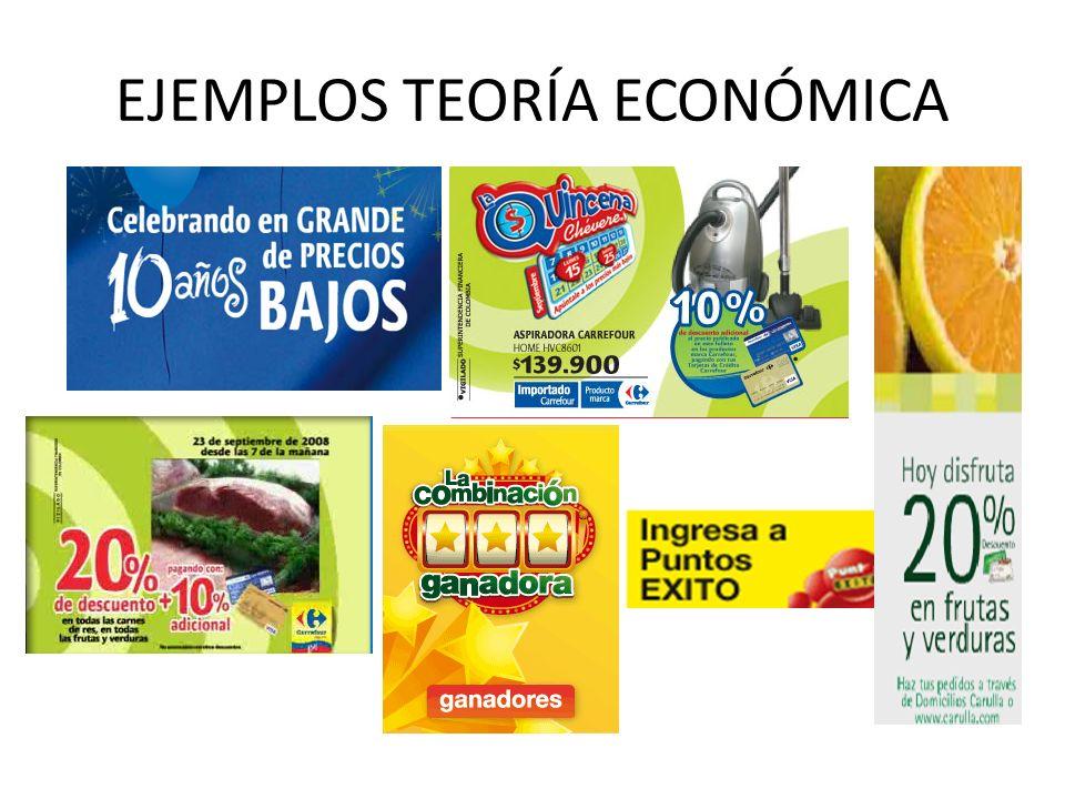 EJEMPLOS TEORÍA ECONÓMICA