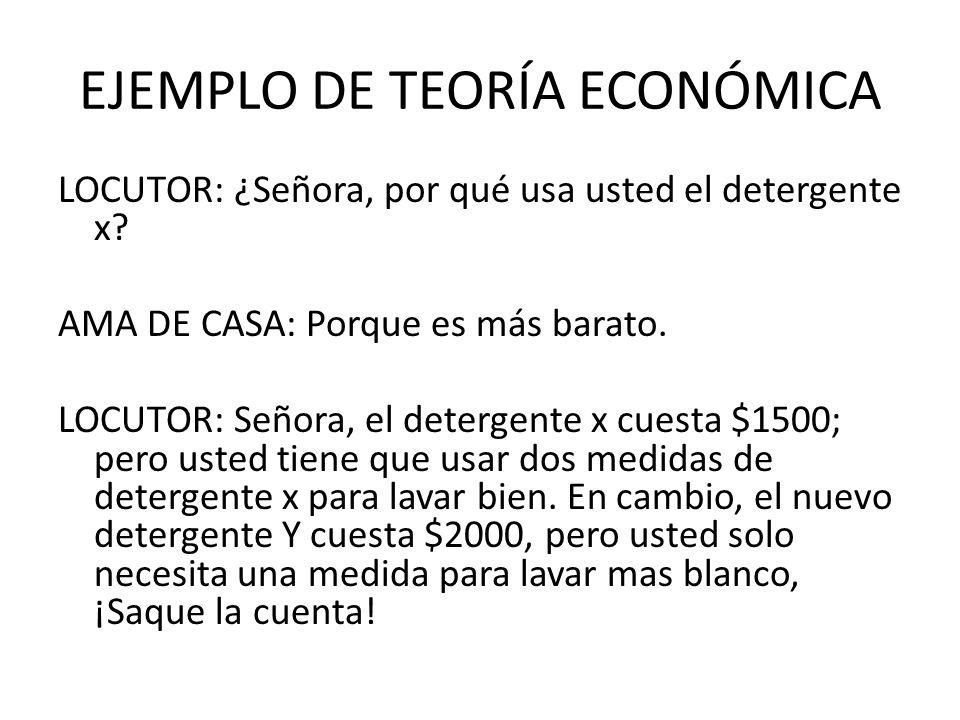 EJEMPLO DE TEORÍA ECONÓMICA