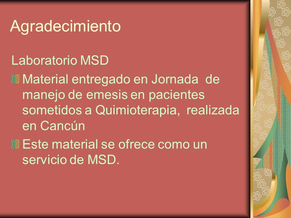 Agradecimiento Laboratorio MSD