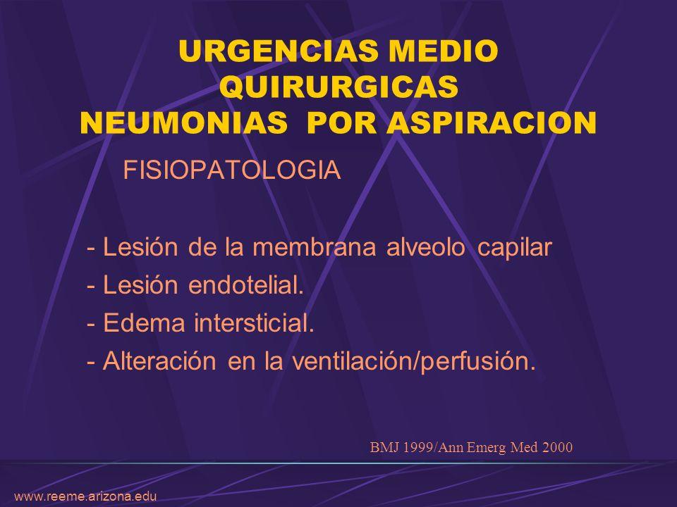 URGENCIAS MEDIO QUIRURGICAS NEUMONIAS POR ASPIRACION