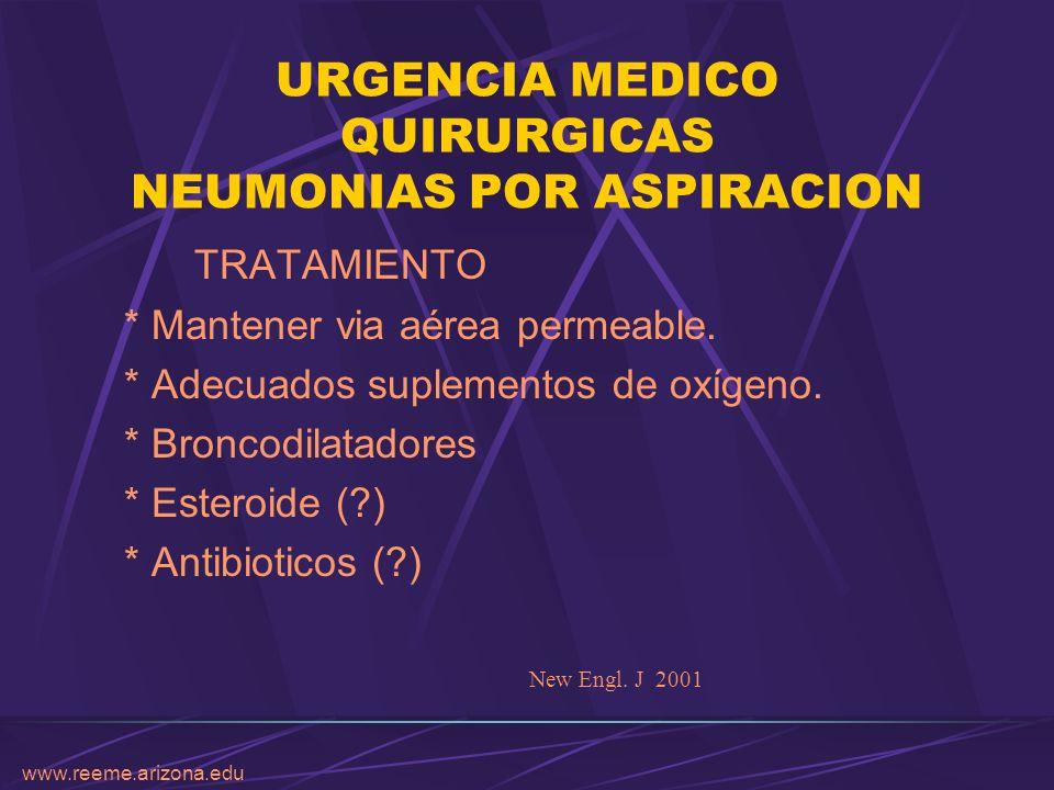 URGENCIA MEDICO QUIRURGICAS NEUMONIAS POR ASPIRACION