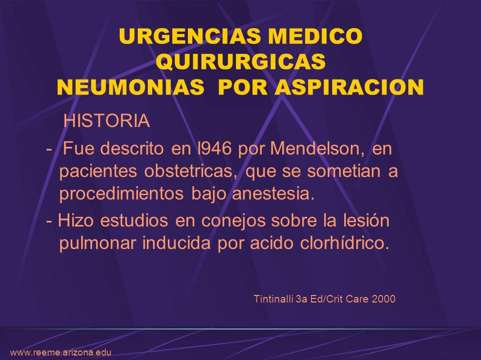 URGENCIAS MEDICO QUIRURGICAS NEUMONIAS POR ASPIRACION