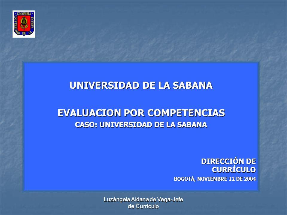 UNIVERSIDAD DE LA SABANA EVALUACION POR COMPETENCIAS