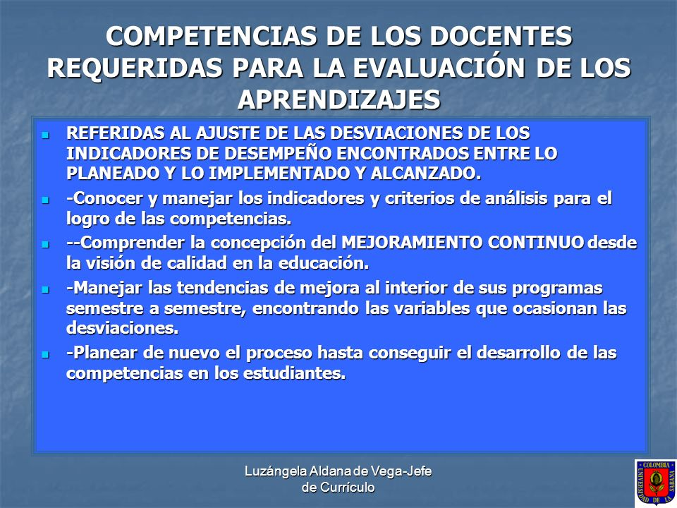 Luzángela Aldana de Vega-Jefe de Currículo