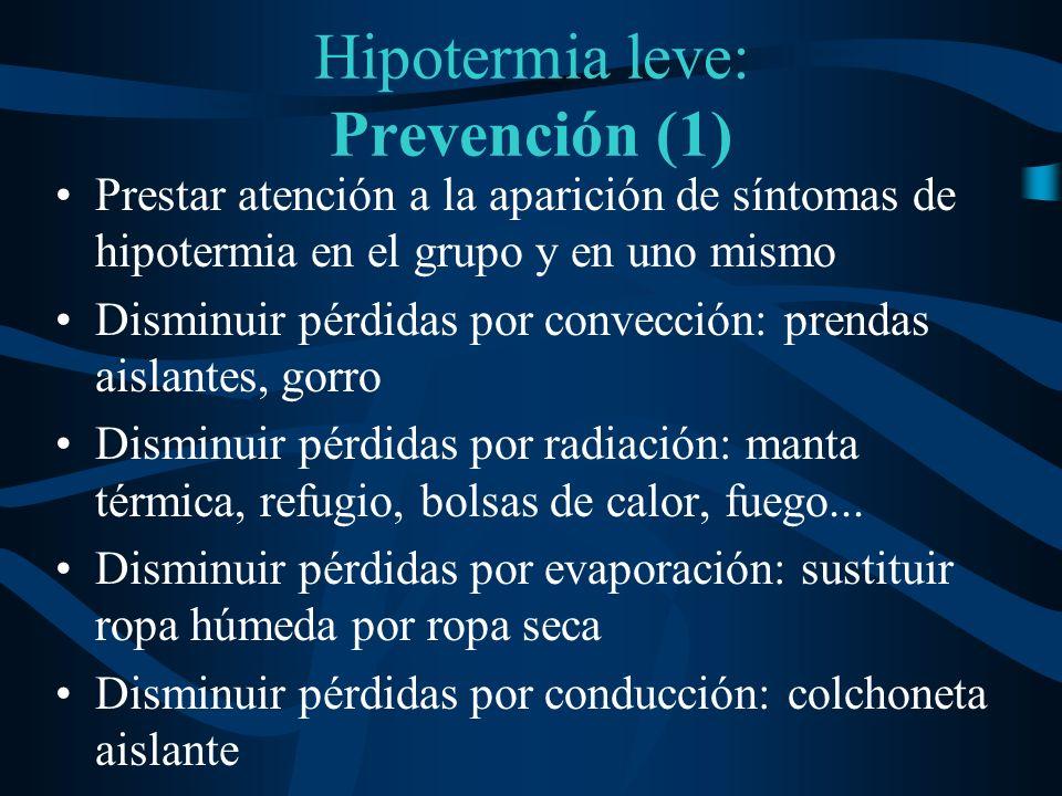 Hipotermia leve: Prevención (1)