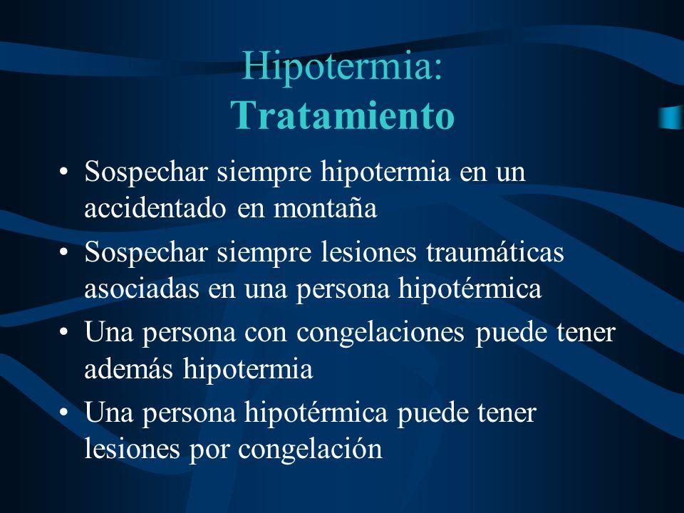 Hipotermia: Tratamiento