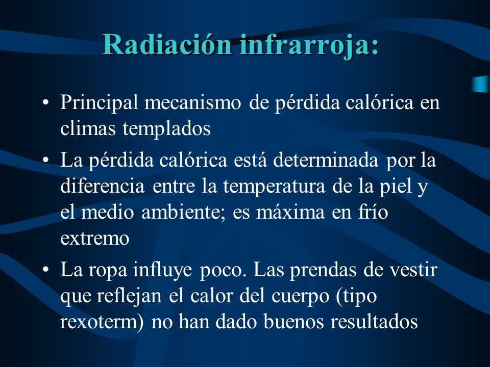 Radiación infrarroja: