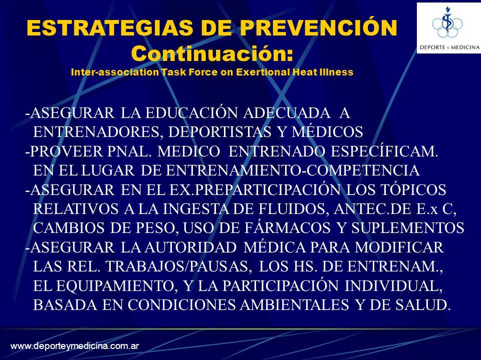 ESTRATEGIAS DE PREVENCIÓN Continuación: