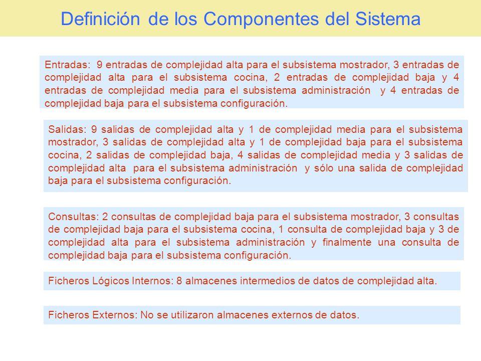 Definición de los Componentes del Sistema
