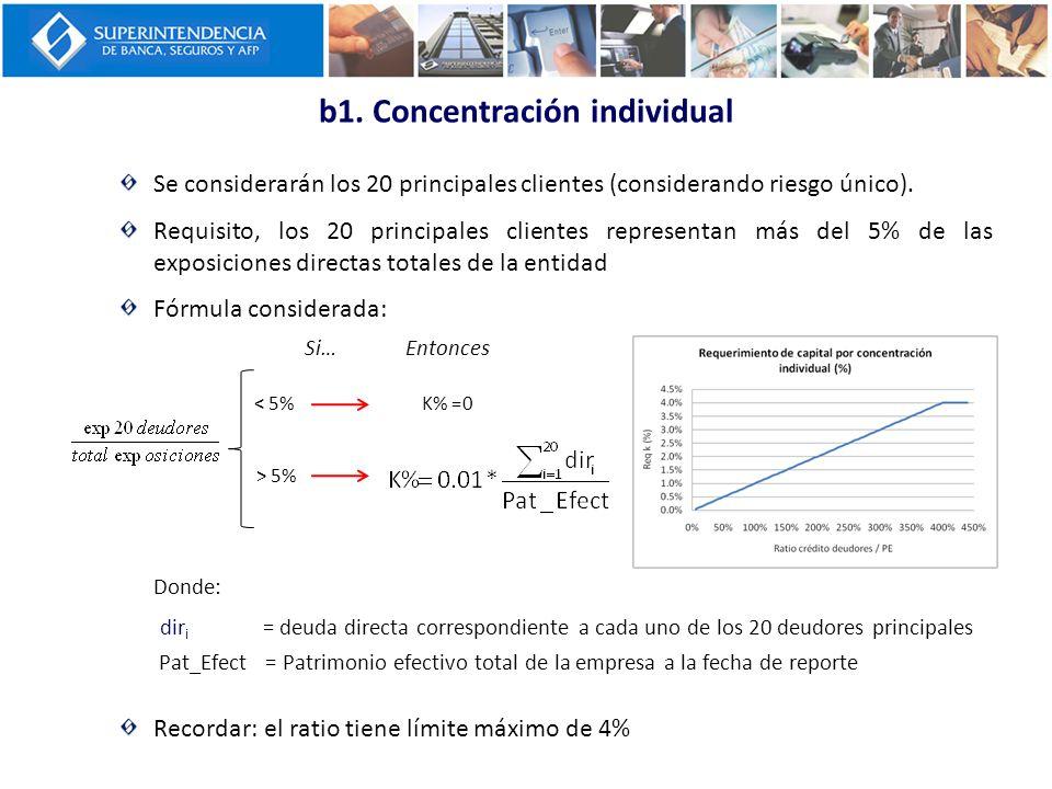 b1. Concentración individual