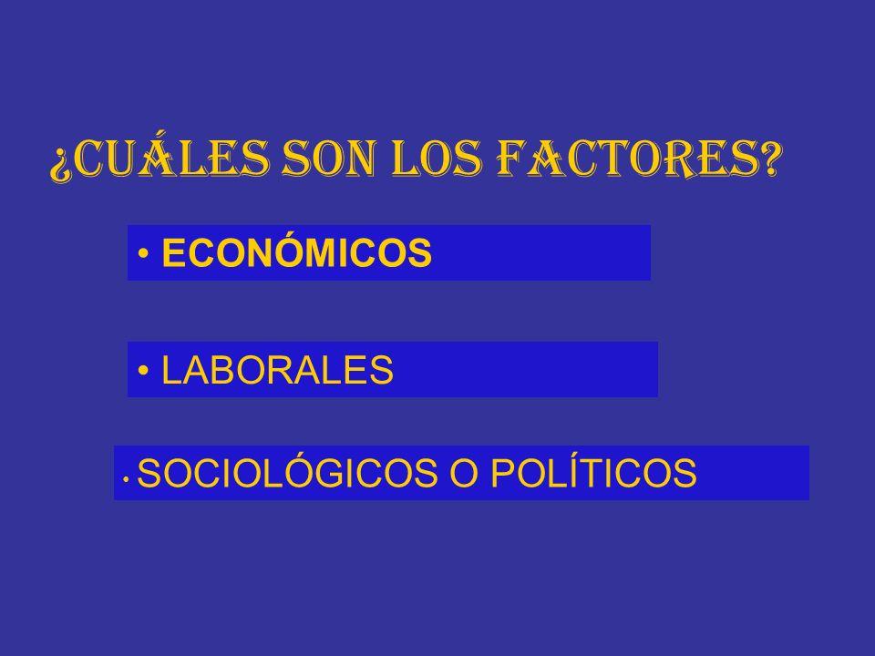 ¿Cuáles son los factores