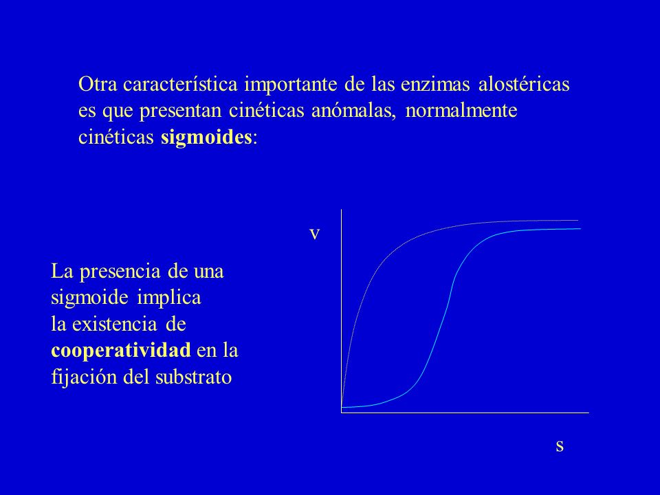 Otra característica importante de las enzimas alostéricas