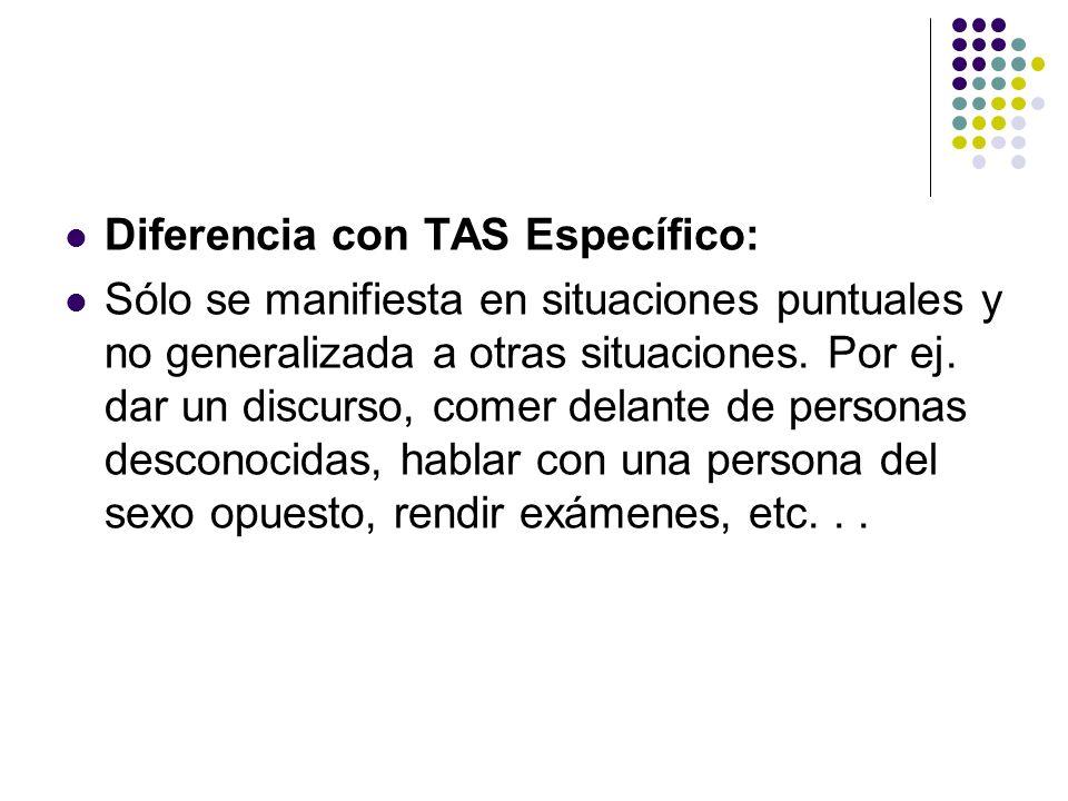 Diferencia con TAS Específico: