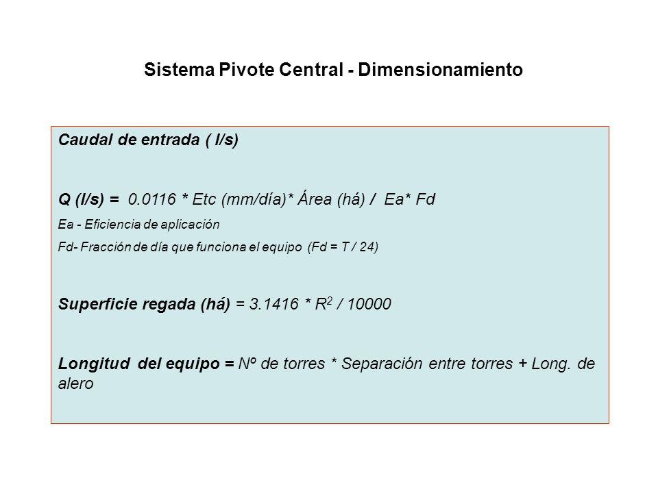 Sistema Pivote Central - Dimensionamiento