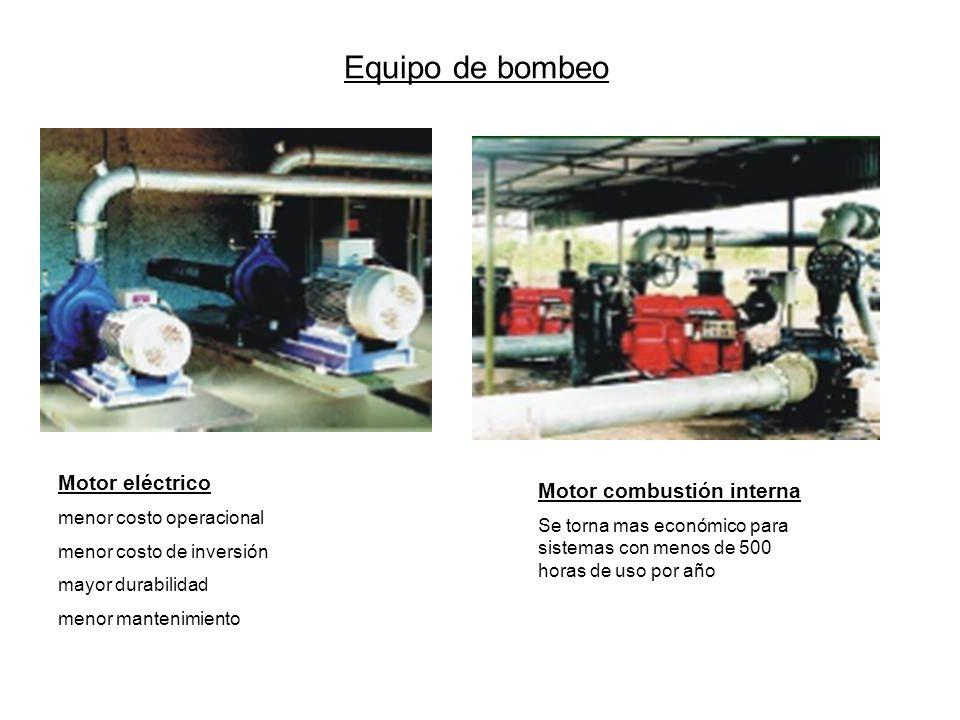 Equipo de bombeo Motor eléctrico Motor combustión interna