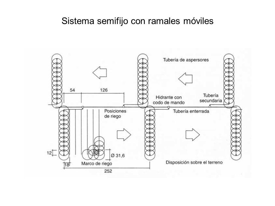 Sistema semifijo con ramales móviles