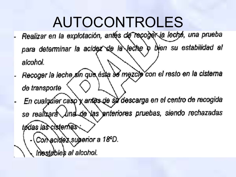 AUTOCONTROLES