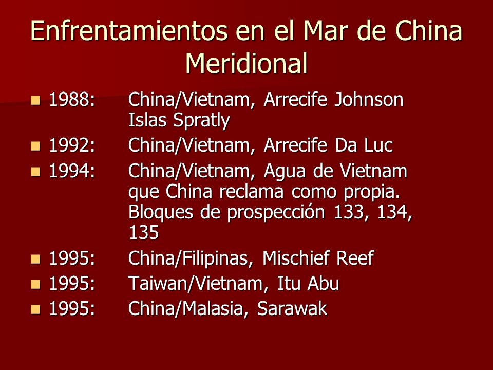 Enfrentamientos en el Mar de China Meridional