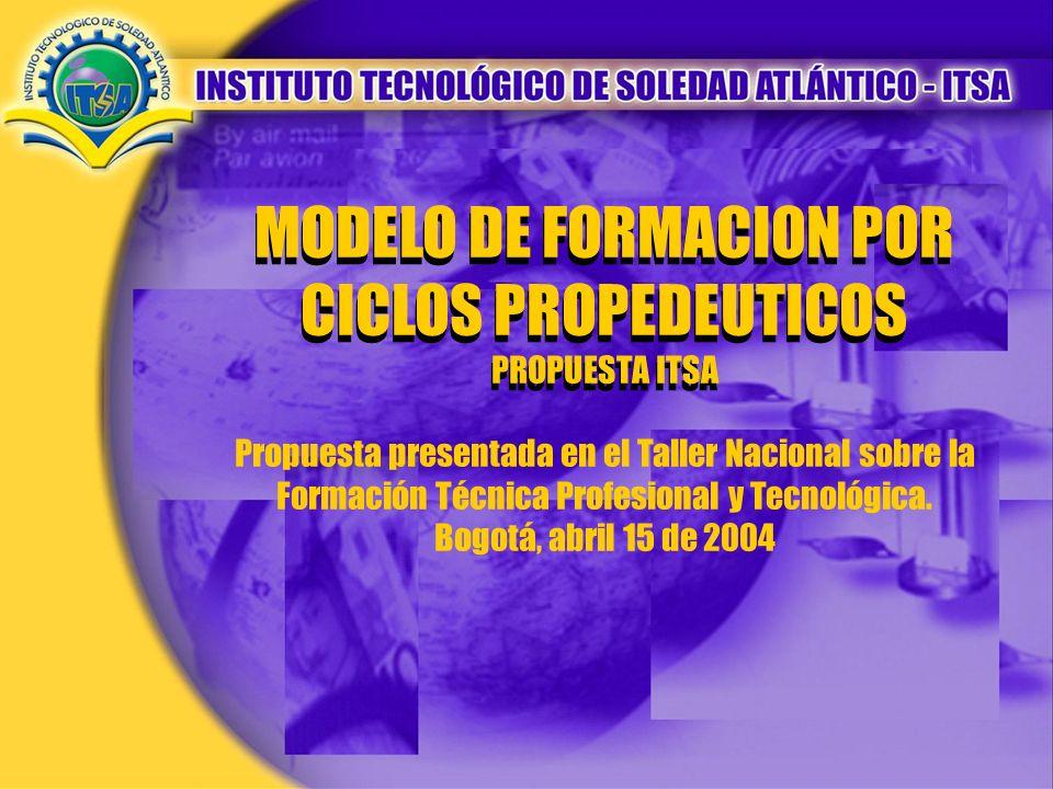 MODELO DE FORMACION POR CICLOS PROPEDEUTICOS
