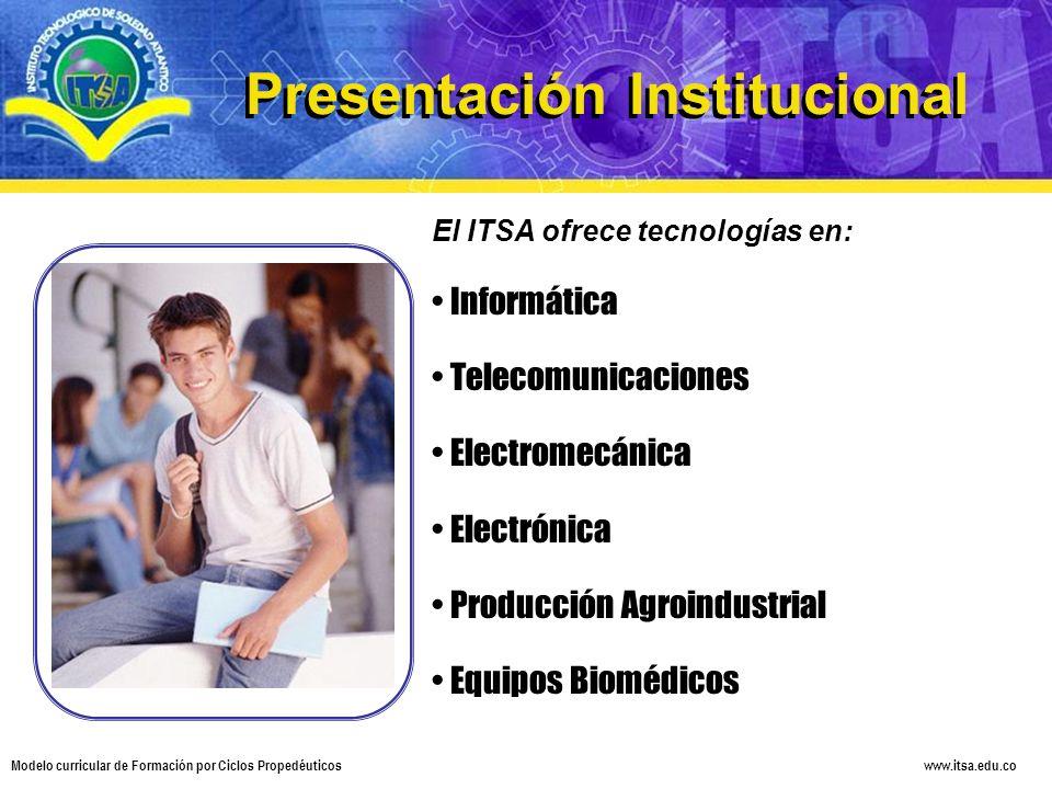 Presentación Institucional Presentación Institucional