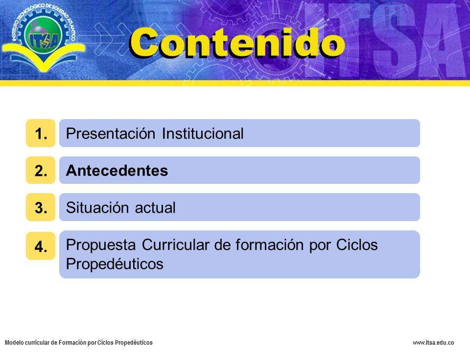 Contenido Contenido Presentación Institucional 1. 2. Antecedentes