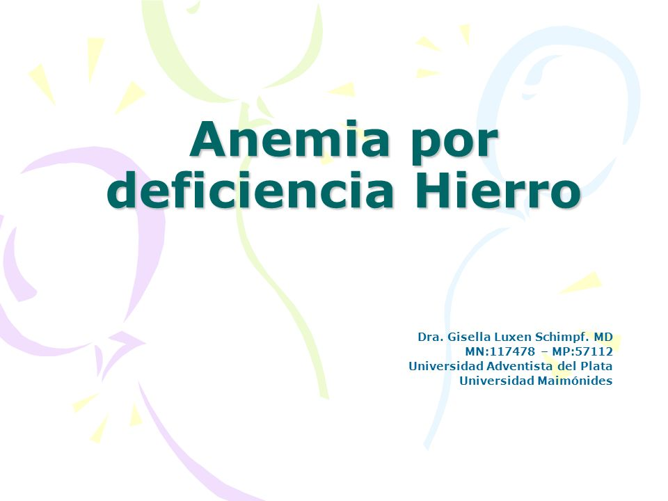 Anemia por deficiencia Hierro