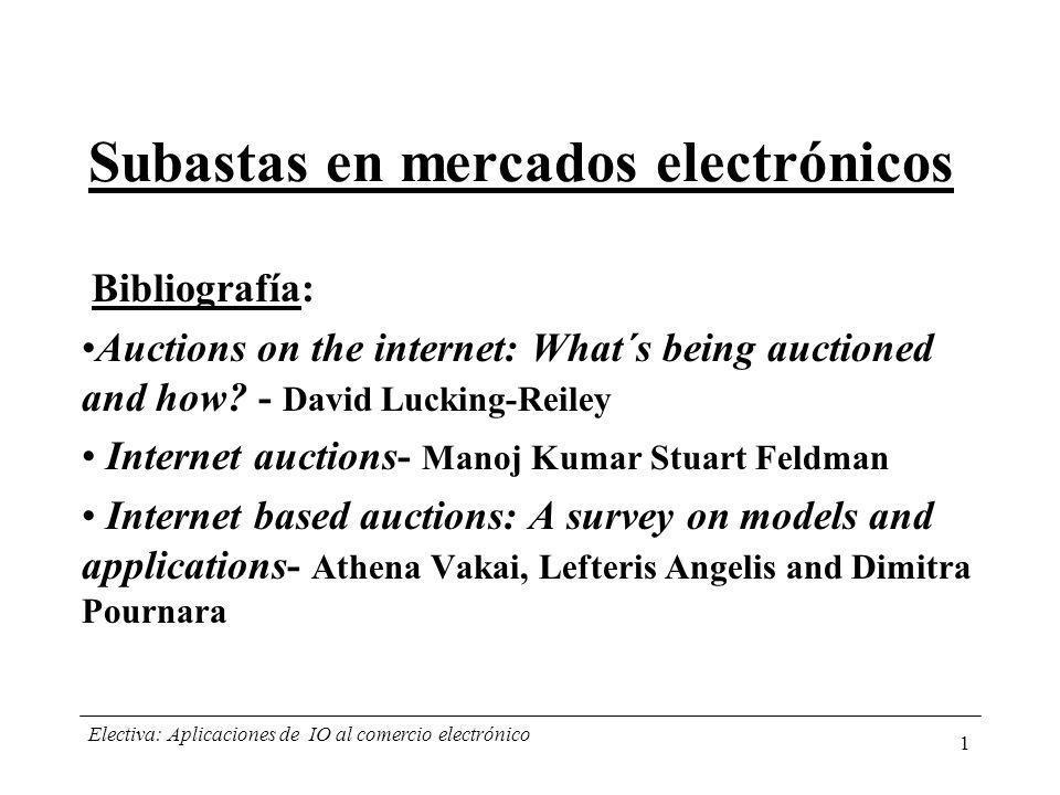 Subastas en mercados electrónicos