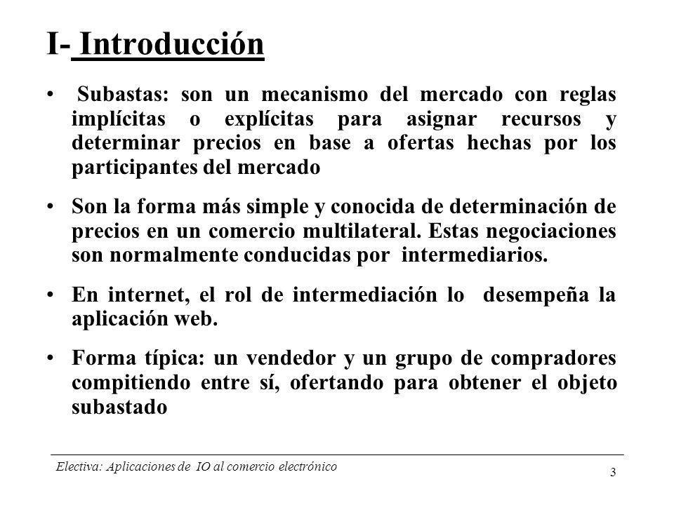 Electiva: Aplicaciones de IO al comercio electrónico