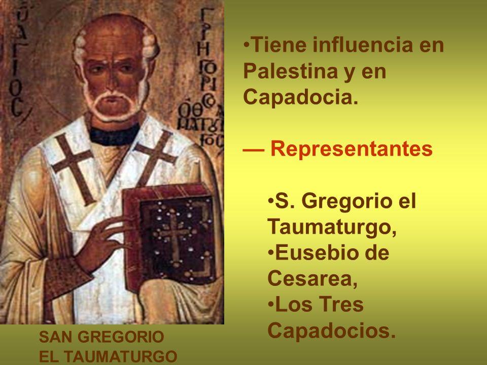 Tiene influencia en Palestina y en Capadocia.