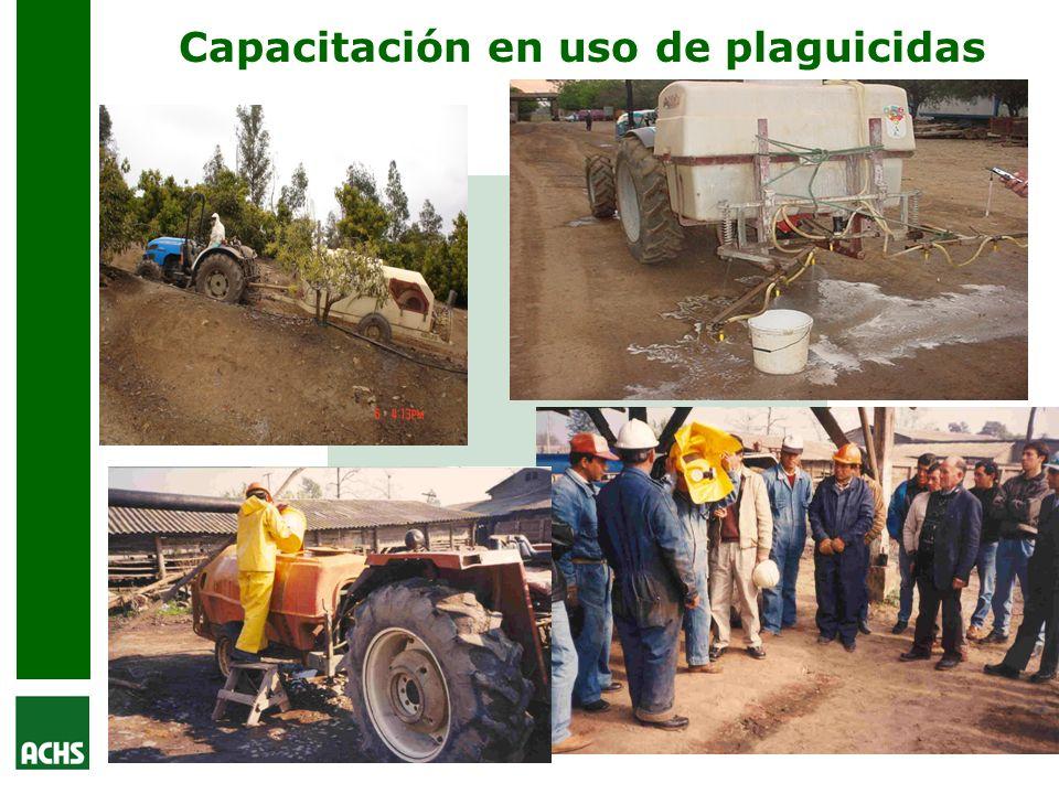 Capacitación en uso de plaguicidas