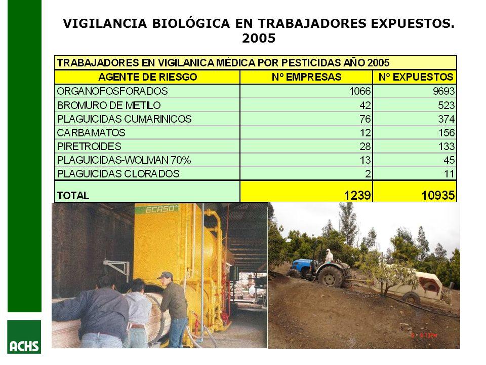 VIGILANCIA BIOLÓGICA EN TRABAJADORES EXPUESTOS. 2005