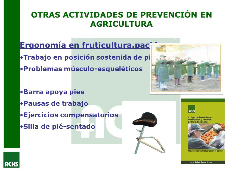 OTRAS ACTIVIDADES DE PREVENCIÓN EN AGRICULTURA