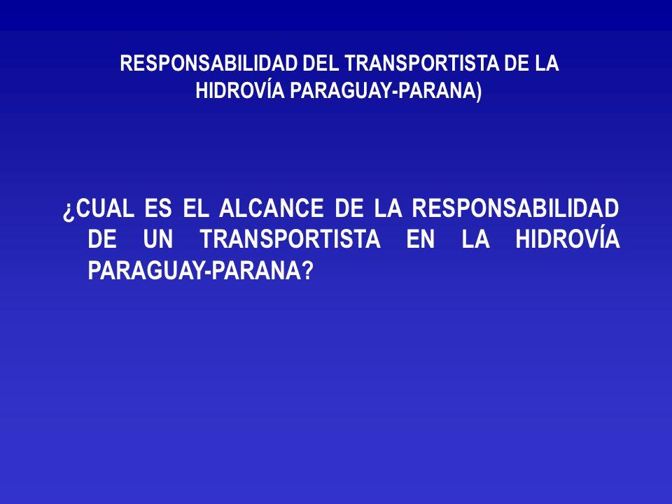 RESPONSABILIDAD DEL TRANSPORTISTA DE LA HIDROVÍA PARAGUAY-PARANA)
