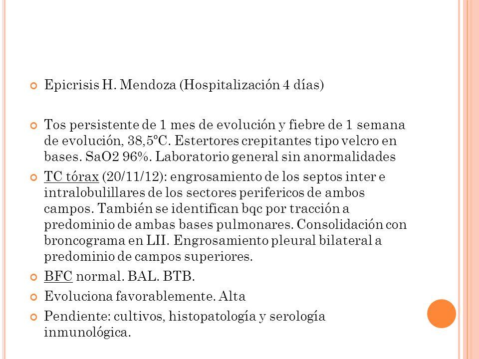 Epicrisis H. Mendoza (Hospitalización 4 días)