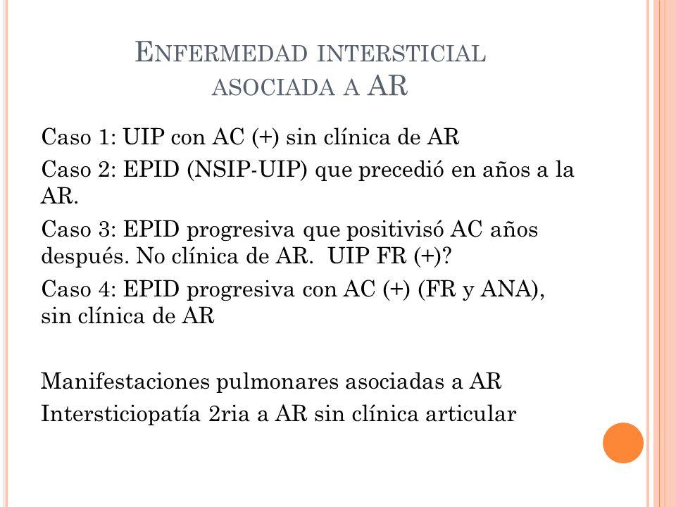 Enfermedad intersticial asociada a AR